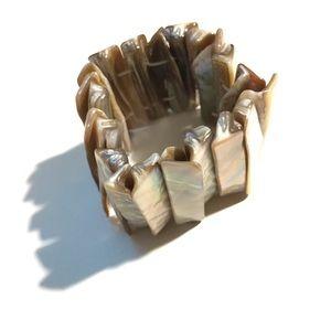Creme Abalone Shell Bracelet